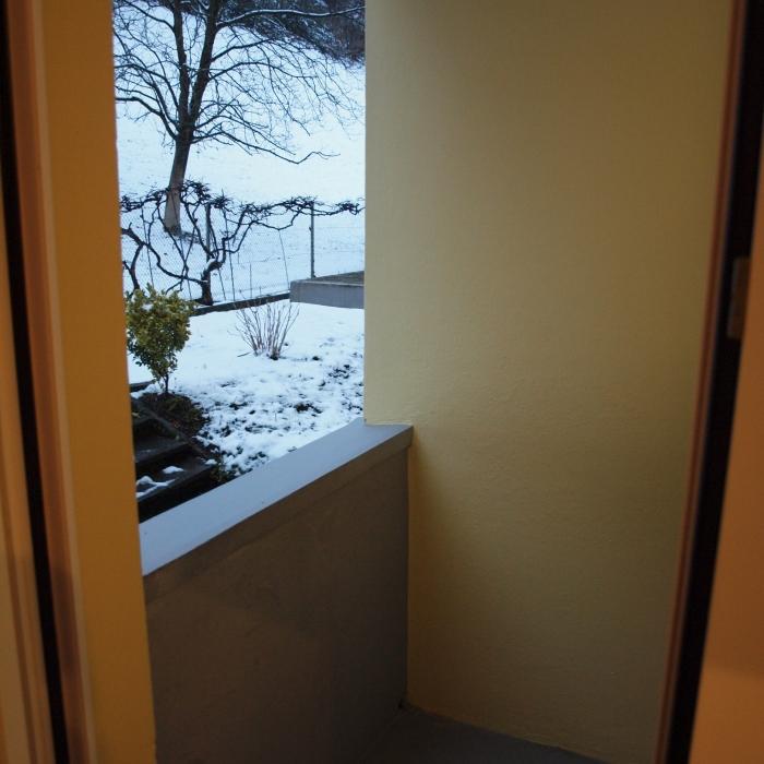 kleiner Balkon bei Küche